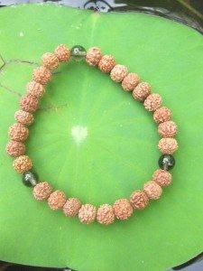 B 6.5 - 10 bracelet mala yoga rudraksha onix