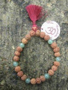 BTF-7 bracelet rudraksha yoga adventurine