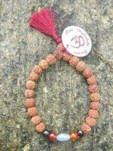 BTP-8 bracelet mala yoga rudraksha pierre precieuse