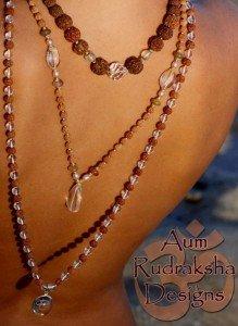 Mala yoga par Aum Rudraksha Designs modele Cristal meilleur qualite prix sur le marche